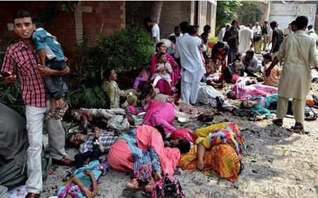 The Horrific Aftermath Outside Church In Pakistan
