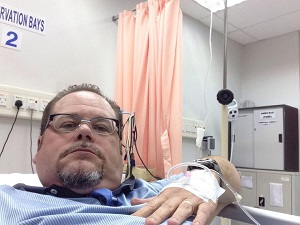 Kevin Receives Treatment in Hospital